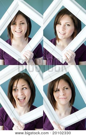 Young Womans Framed Expressions