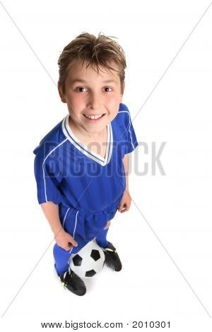 Boy Wth Soccer Ball