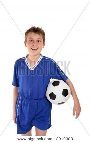 Boy In Soccer Uniform