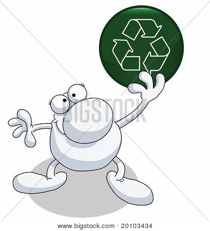 Man recycle