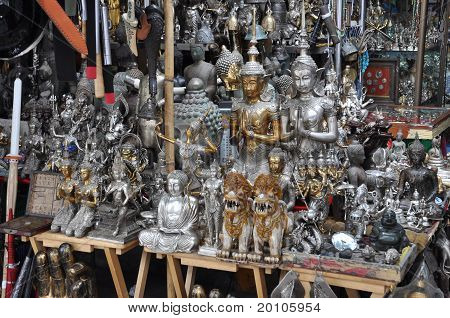 Many Buddha Statue Silver Shop
