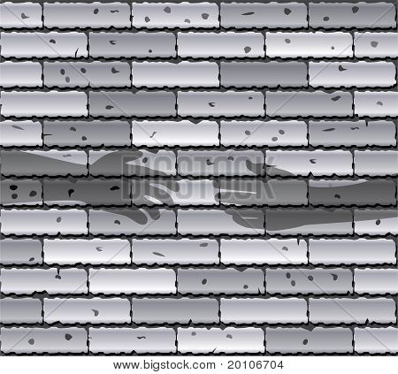 Gray Brick Wall And Shadows Of People's Hands