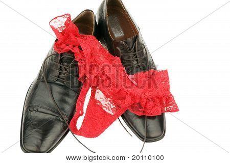 High heels and underwear