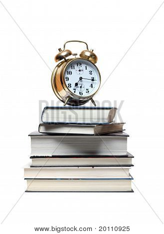 Alarm Clock On Books