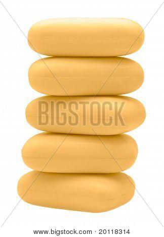 Stack Of Yellow Soap Bricks