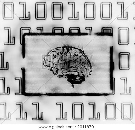 Brain And Binary Code