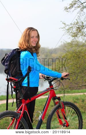 Smiling Girl Cyclist