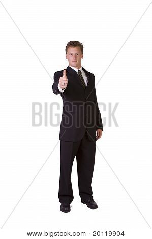 Handsome Businessman Giving The Thumbs Up