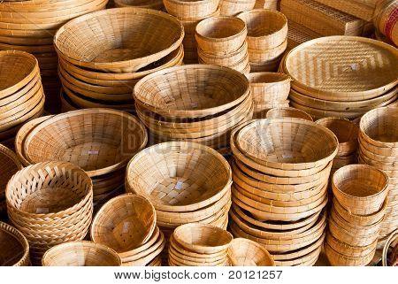 Cesta de bambu
