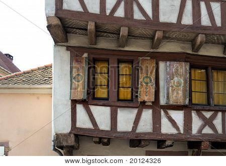 Beautiful Old Wuindows In The Colmar, France