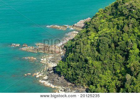 Tropical Island Coastline
