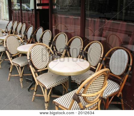 Bistro Chairs In Cafe
