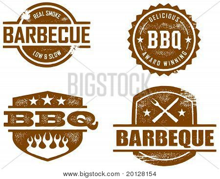 Barbeque BBQ Rubber Stamps