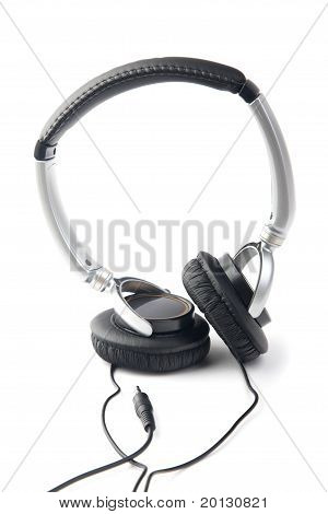 Silver-black Headphone