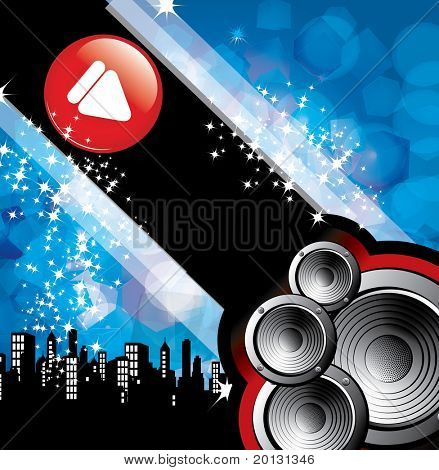 eps10 abstract vector speaker design