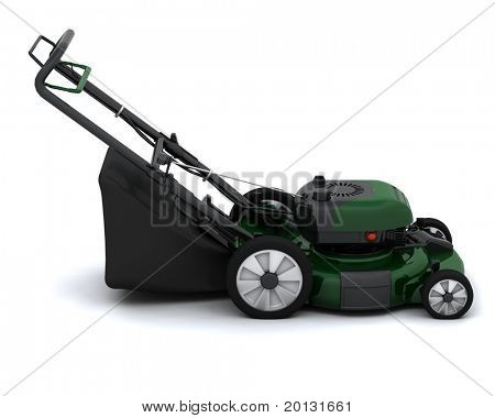 3D render of a lawn mower