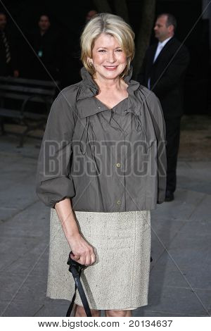 NEW YORK - APRIL 20: TV host Martha Stewart arrives at New York State Supreme Court for the Vanity Fair Party during the 2010 Tribeca Film Festival on April 20, 2010 in New York City.