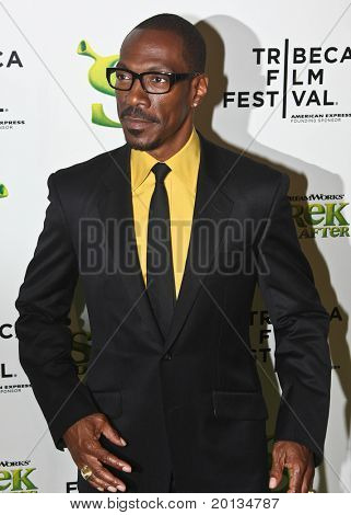NEW YORK - APRIL 21: Actor Eddie Murphy attends the 2010 TriBeCa Film Festival opening night premiere of 'Shrek Forever After' at the Ziegfeld Theatre on April 21, 2010 in New York City.