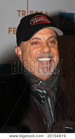 "NEW YORK - APRIL 25: Musician Billy Joel attends the premiere of ""Last Play at Shea"" at the TriBeCa Performing Arts Center during the 2010 TriBeCa Film Festival on April 25, 2010 in New York City."