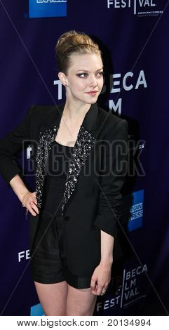 NEW YORK - APRIL 25: Actress Amanda Seyfried attends the