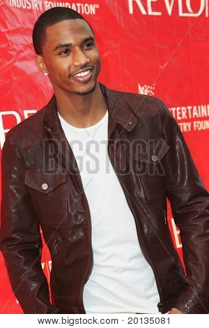 NEW YORK - MAY 1: Singer Trey Songz attends the 13th Annual Entertainment Industry  Foundation Revlon Run/Walk for Women at Times Square on May 1, 2010 in New York City.