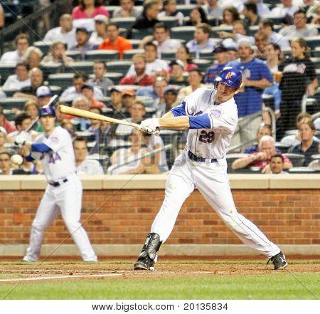 Flushing - June 23: New York Mets Rightfielder Ike Davis Bats Against The Detroit Tigers On Jun