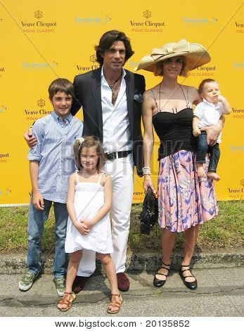 NEW YORK - JUNE 26: Argentine polo player Nacho Figueras and his family attend the Veuve Clicquot Polo Classic at Governor's Island on June 26, 2010 in New York City.