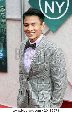"""NEW YORK - JULY 6: Actor Gregory Woo attends the premiere of """"The Sorcerer's Apprentice"""" at the New Amsterdam Theatre on July 6, 2010 in New York City."""