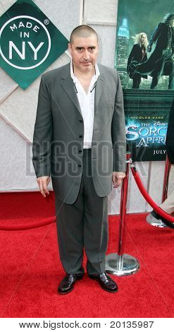 "NEW YORK - JULY 6: Actor Alfred Molina attends the premiere of ""The Sorcerer's Apprentice"" at the New Amsterdam Theatre on July 6, 2010 in New York City."