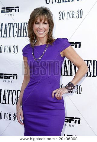 "NEW YORK - AUGUST 26: ESPN analyst and executive producer Hannah Storm attends ESPN Films' ""Unmatched"" premiere at the TriBeCa Cinemas on August 26, 2010 in New York City."