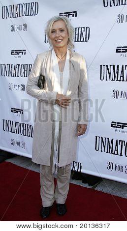 NEW YORK - AUGUST 26: Former tennis athlete Martina Navratilova attends ESPN Films'
