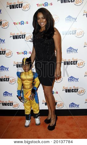 NEW YORK - OCTOBER 13: LaLa Vasquez and her son, Kiyan, attend the 60th Anniversary of Trick-or-Treat for UNICEF at The Xchange on October 13, 2010 in New York City.