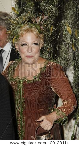 NEW YORK - OCTOBER 29: Bette Midler attends the 15th Annual Bette Midler's New York Restoration Project's Hulaween at the Waldorf-Astoria Hotel on October 29, 2010 in New York City.