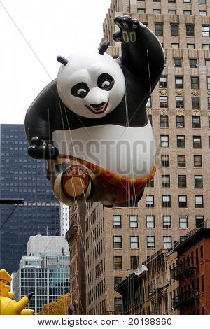 NEW YORK - NOVEMBER 25: The Kung Fu Panda float appears in the 84th Macy's Thanksgiving Day Parade on November 25, 2010 in New York City.