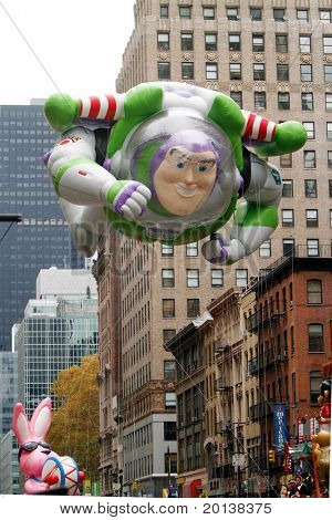 NEW YORK - NOVEMBER 25: The Buzz Lightyear float appears in the 84th Macy's Thanksgiving Day Parade on November 25, 2010 in New York City.