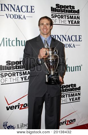 NEW YORK - NOVEMBER 30: Drew Brees attends the Sports Illustrated Sportsman of the Year Awards at the IAC Building on November 30, 2010 in New York City.