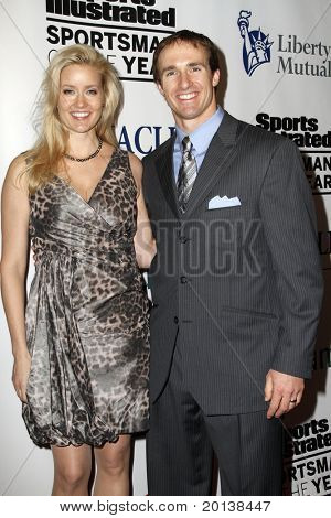 NEW YORK - NOVEMBER 30: Brittan Brees and Drew Brees attends the Sports Illustrated Sportsman of the Year Awards at the IAC Building on November 30, 2010 in New York City.