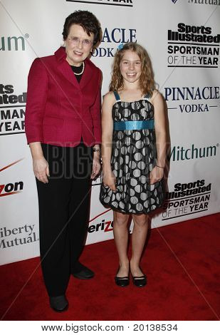 NEW YORK - NOVEMBER 30: Billie Jean King and Jessica Aney attend the Sports Illustrated Sportsman of the Year Awards at the IAC Building on November 30, 2010 in New York City.