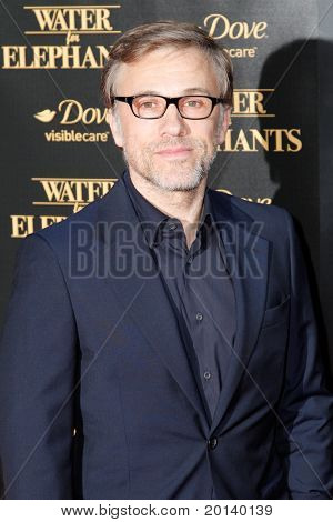 "NEW YORK - APRIL 17:  Actor Christoph Waltz attends the premiere of ""Water for Elephants"" at the Ziegfeld Theatre on April 17, 2011 in New York City."