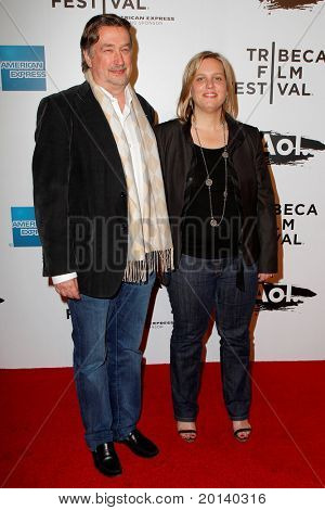 "NEW YORK - APRIL 20: Geoff Gilmore and Nancy Schafer attend the opening night premiere of ""The Union"" at 2011 TriBeCa Film Festival at World Financial Center Plaza on April 20, 2011 in New York City."