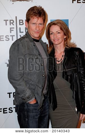 "NEW YORK - APRIL 20: Denis and Ann Leary attend the opening night premiere of ""The Union"" at the 2011 TriBeCa Film Festival at World Financial Center Plaza on April 20, 2011 in New York City."