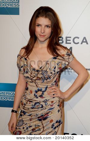 "NEW YORK - APRIL 20: Anna Kendrick attends the opening night premiere of ""The Union"" at the 2011 TriBeCa Film Festival at North Cove at World Financial Center Plaza on April 20, 2011 in New York City."
