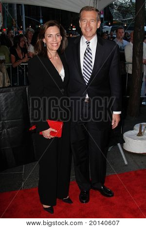 NEW YORK - APRIL 26: Brian and Jane Williams attend the Time 100 Gala for Time's 100 Most Influential People in the World at the Time Warner Center on April 26, 2011 in New York City, NY
