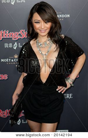 HOLLYWOOD, CA. - NOV 21: Tila Tequila arrives at the 2010 American Music Awards Rolling Stone Magazine VIP After Party at Rolling Stone Restaurant and Lounge on November 21, 2010 in Hollywood, Ca.