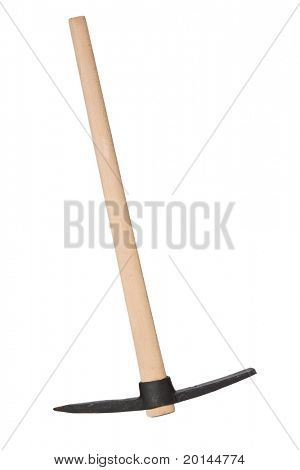 the pickaxe on white background