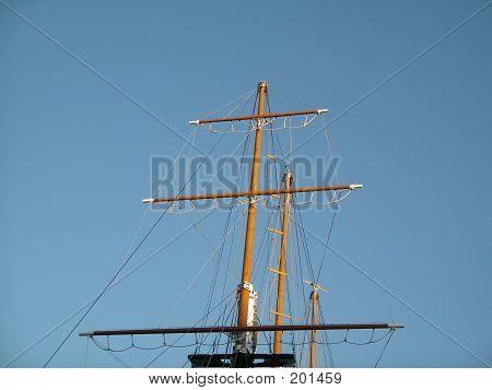 Schiff-Mast
