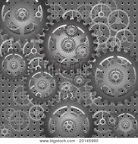 Mechanism - Gears - Vector