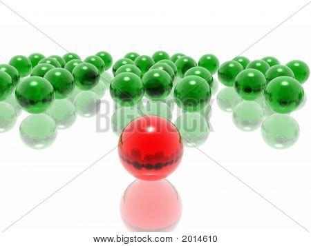 Red Unique Sphere