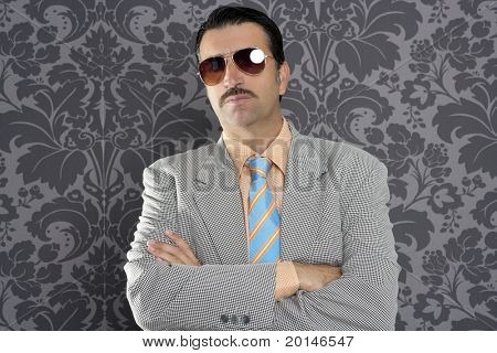 nerd serious proud businessman sunglasses portrait wallpaper background