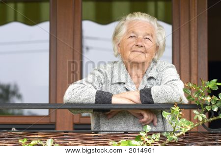 Old Woman On The Porch